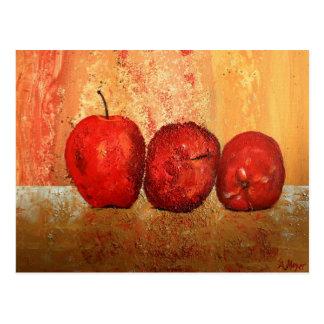 Quieto vida con manzanas postal