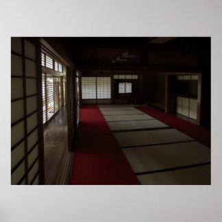 QUIETUD del SITIO de la MEDITACIÓN del ZEN - KYOTO Posters