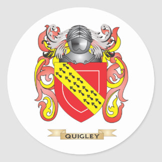 Quigley Coat of Arms Family Crest Round Stickers