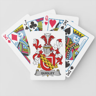 Quigley Family Crest Bicycle Playing Cards