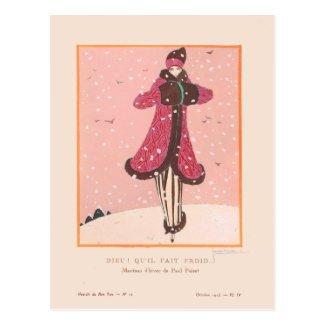Qui'il Fait Froid by Lepape Postcard