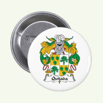 Quijada Family Crest Button
