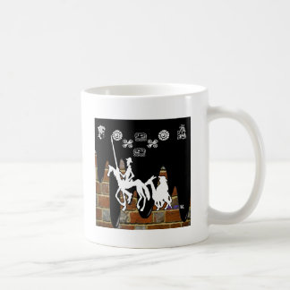 QUIJOTE Y SANCHO BRICK BACKGROUND PRODUCTS. COFFEE MUG