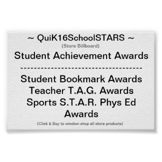 QuiK16SchoolSTARS -- Almacene la cartelera -- Póster