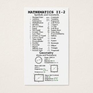 Quik-Ref Mathematics II Wallet Business Card