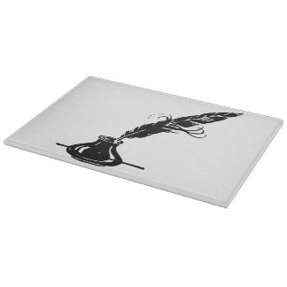 Quill and Ink Bottle Cutting Board