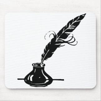 Quill and Ink Bottle Mouse Pad