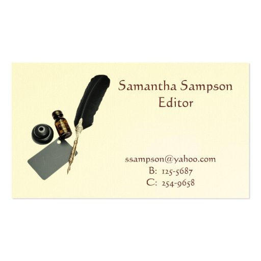 Quill and Ink Business Card