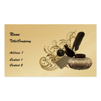 Quill and Ink Pot Double-Sided Standard Business Cards (Pack Of 100)