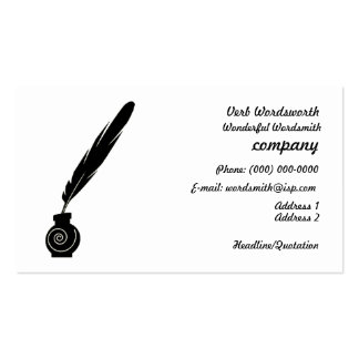 Quill and Ink Writers Business Profile Card Business Card Templates