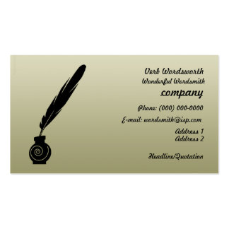 Quill and Ink Writers Business Profile Card Double-Sided Standard Business Cards (Pack Of 100)
