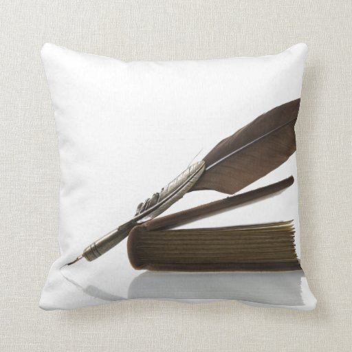 Quill antique olden days vintage quills cushion pillow