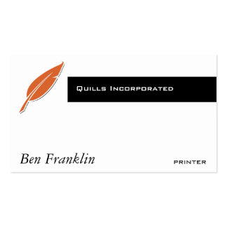 Quill Business Card Template