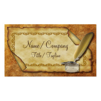 Quill Pen and Parchment Double-Sided Standard Business Cards (Pack Of 100)