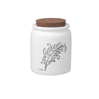 Quill Pen Candy Jar