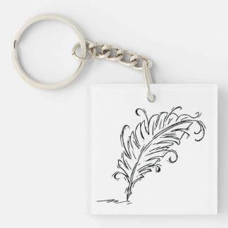 Quill Pen Keychain