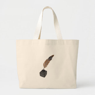 Quill Pen Large Tote Bag