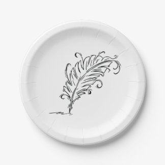 Quill Pen Paper Plates