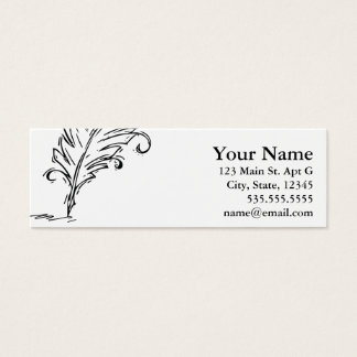 Quill Pen Skinny Business Card