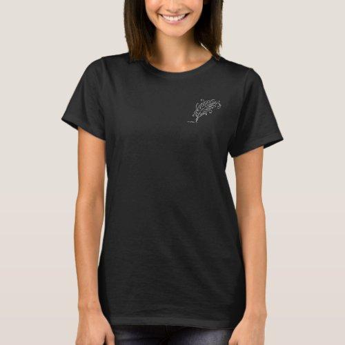 Quill Pen Womens Dark T_Shirt