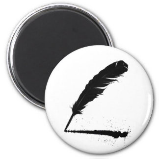 Quill with Ink 2 Inch Round Magnet