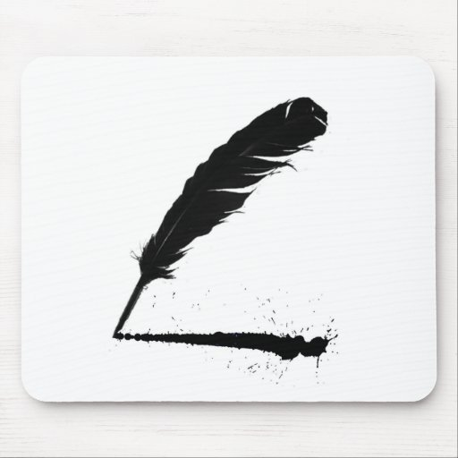 Quill with Ink Mouse Pad