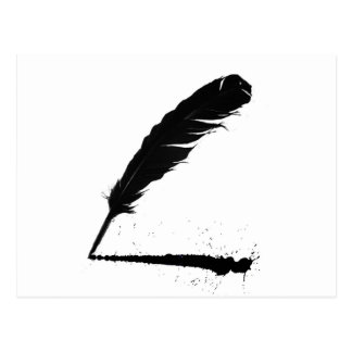 Quill with Ink Postcard