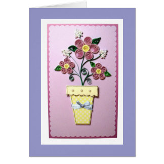 Quilled Flowers Greeting Card