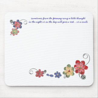 Quilled Flowers Mouse Pad