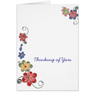 Quilled Flowers Notecard Greeting Card