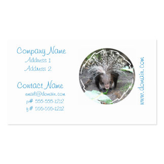 Quilled Porcupine Business Cards