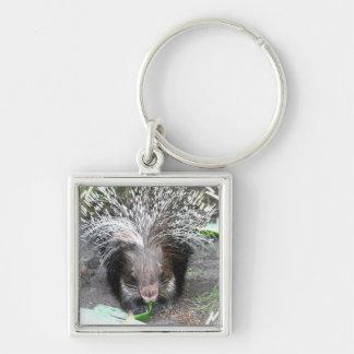 Quilled Porcupine Keychain