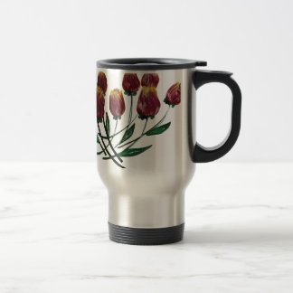 Quilled Tulips Stainless Steel travel mug