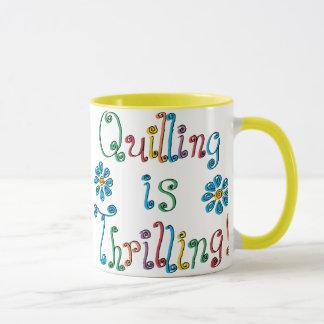 Quilling está emocionando taza