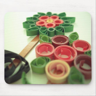 Quilling Flower Plants Mouse Pad