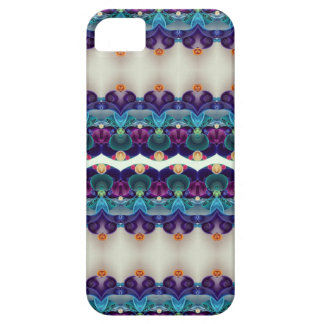 Quilling Ivory Purple Blue Detailed Pattern iPhone SE/5/5s Case