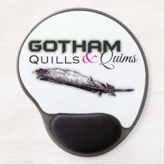 Quills & Quims Mousepad - Black Color Logo2 Gel Mouse Pad