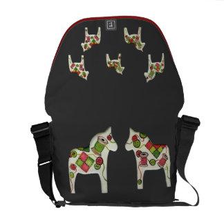 Quilt6er's Dala Horses Rickshaw Messenger Bag