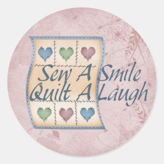 Quilt a Laugh Classic Round Sticker