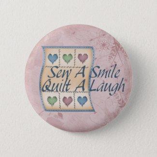 Quilt a Laugh Pinback Button