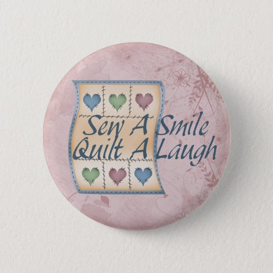 Quilt a Laugh Pinback Button