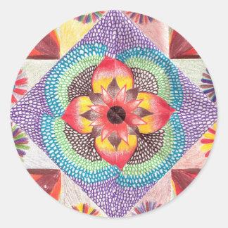 Quilt Art by Skinny Bones Round Sticker