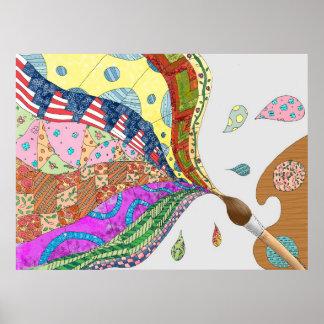 Quilt Art Poster