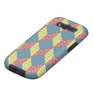 Quilt Baby Block Pattern in Retro Colors Samsung Galaxy S3 Covers