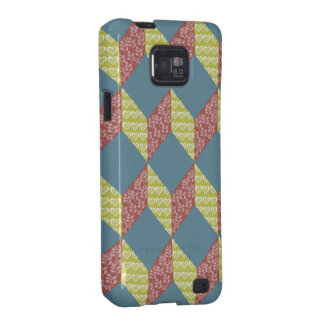 Quilt Baby Block Pattern in Retro Colors Samsung Galaxy SII Case