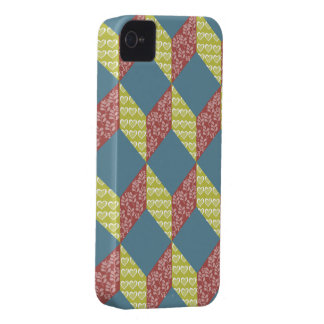 Quilt Baby Block Pattern in Retro Colors iPhone 4 Cover