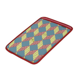 Quilt Baby Block Pattern in Retro Colors MacBook Sleeve