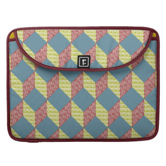 Quilt Baby Block Pattern in Retro Colors Sleeve For MacBooks