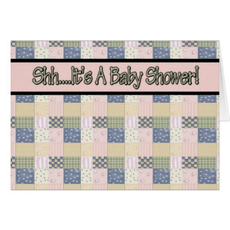 Quilt Baby Shower Invitations