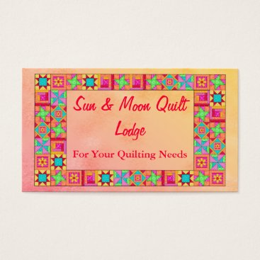 Professional Business Quilt Block Art Patchwork Border Promotion Business Card